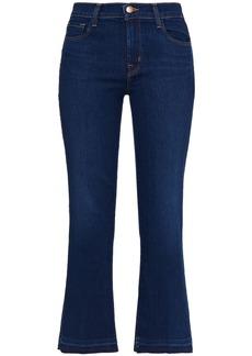 J Brand Woman Selena Mid-rise Kick-flare Jeans Dark Denim