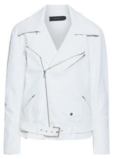 J Brand Woman Shelly Denim Biker Jacket White