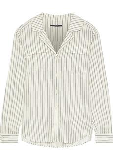 J Brand Woman Striped Jacquard Shirt Off-white