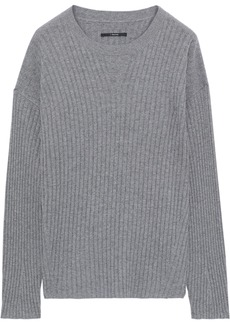 J Brand Woman Tiffany Ribbed Cashmere Sweater Stone