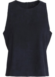 J Brand Woman Trevia Suede Tank Midnight Blue