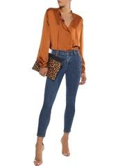 J Brand Woman Mid-rise Skinny Jeans Dark Denim