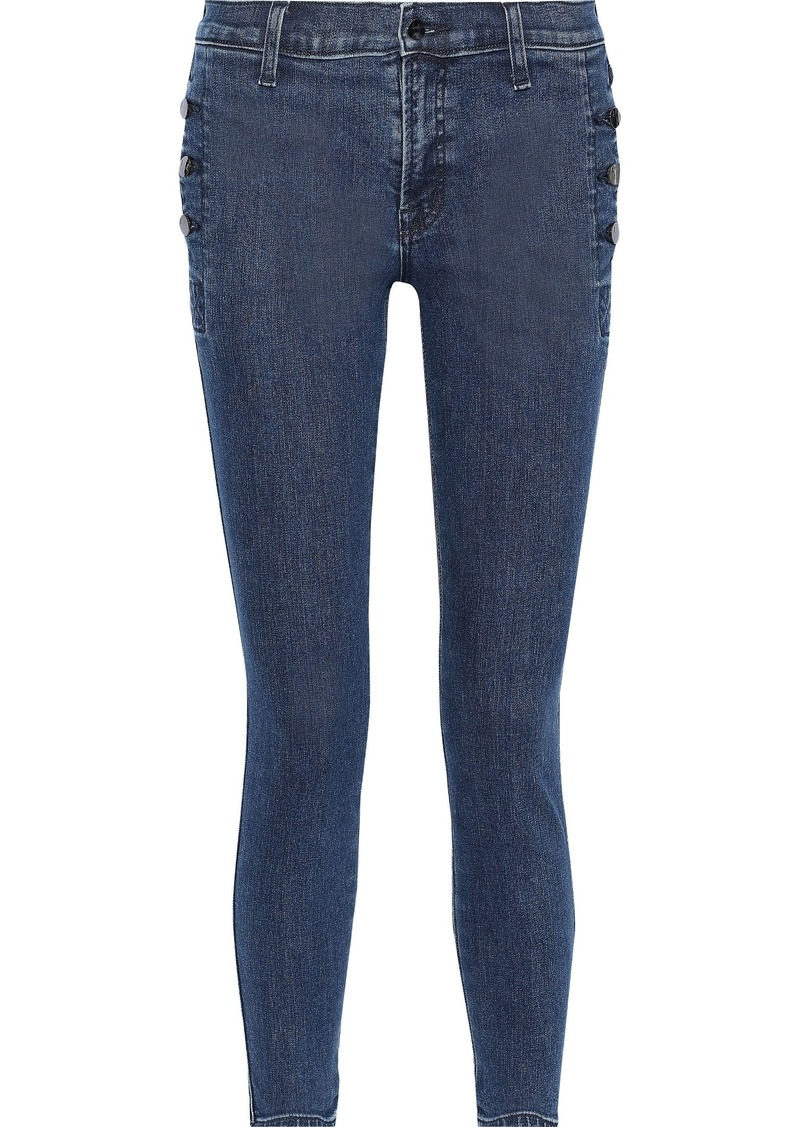 J Brand Woman Mid-rise Skinny Jeans Dark Denim