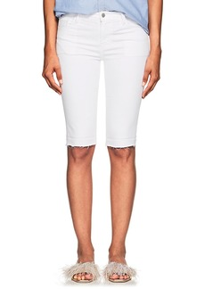 J Brand Women's 811 Bermuda Mid-Rise Denim Shorts