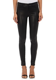 J Brand Women's 811 Mid-Rise Skinny Leather Pants