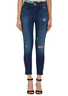 J Brand Women's Alana High-Rise Distressed Crop Jeans