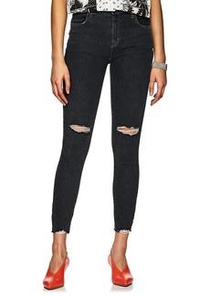 J Brand Women's Alana Shredded High-Rise Crop Jeans