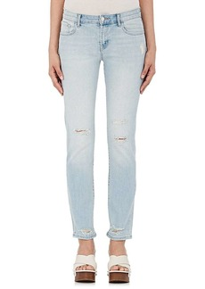 J Brand Women's Amelia Mid-Rise Straight Distressed Jeans
