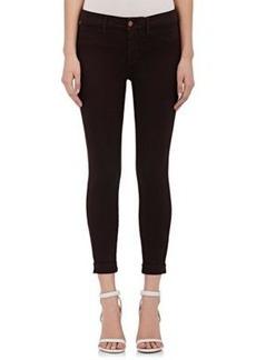 J Brand Women's Anja Mid-Rise Cuffed Crop Jeans