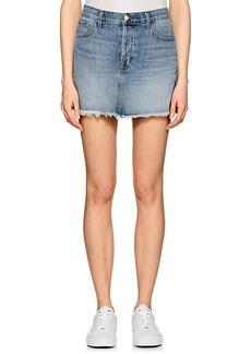J Brand Women's Bonny Mid-Rise Denim Miniskirt