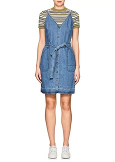J Brand Women's Carmela Cotton-Linen Chambray Minidress