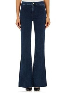 J Brand Women's High-Rise Flared Jeans-NAVY Size 26