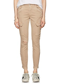 J Brand Women's Houlihan Mid-Rise Skinny Crop Cargo Jeans
