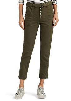 J Brand Women's Kyrah Cotton-Blend Straight Belted Trousers