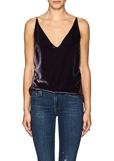 J Brand Women's Lucy Velvet & Silk Georgette Cami