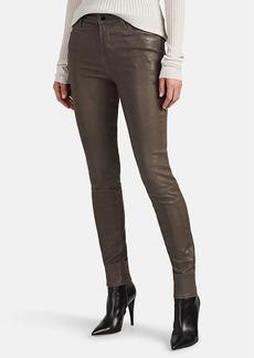 J Brand Women's Maria Leather High-Rise Skinny Pants