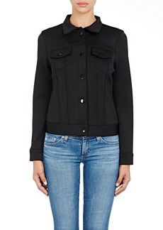 J Brand Women's Neoprene Slim-Fit Jacket-BLACK Size M
