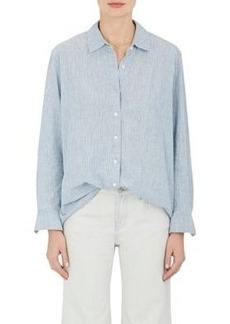 J Brand Women's Pacific Striped Linen-Cotton Blouse