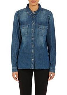 J Brand Women's Ridley Shrunken Shirt