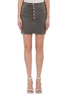 J Brand Women's Rosalie Distressed Denim Skirt