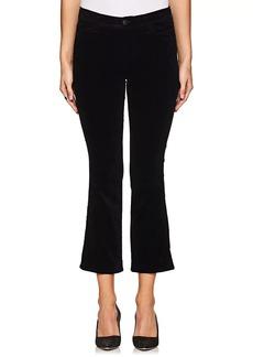 J Brand Women's Selena Crop Flared Velvet Jeans