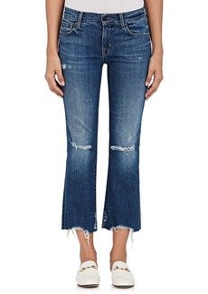 J Brand Women's Selena Distressed Crop Flared Jeans
