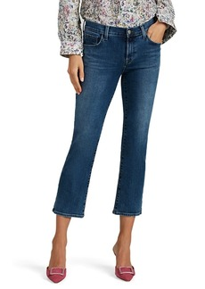 J Brand Women's Selena Distressed Mid-Rise Boot-Cut Crop Jeans