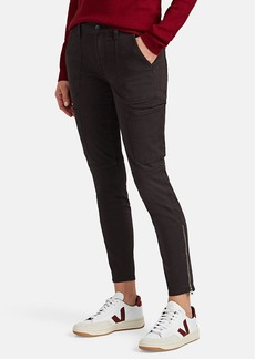 J Brand Women's Stretch Cotton-Blend Skinny Crop Utility Pants