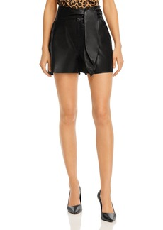 J Brand Zinna Leather Shorts