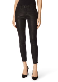 J Brand Zion Coated Ankle Skinny Jeans