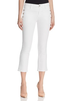 J Brand Zion Crop Boot Jeans in Blanc