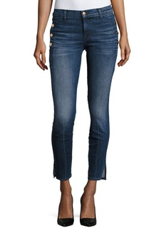 J Brand Zion Mid-Rise Skinny W/ Button Pockets