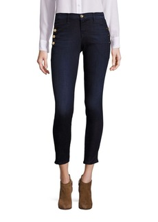 J BRAND Zion Skinny Jeans with Buttons