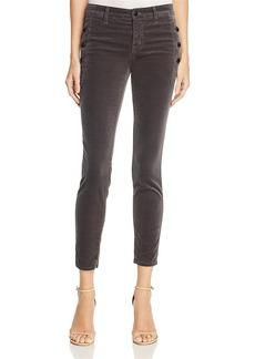 J Brand Zion Velvet Crop Skinny Jeans in Asphalt 100% Exclusive