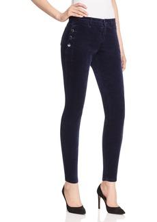 J Brand Zion Velvet Skinny Jeans in Black Iris - 100% Exclusive