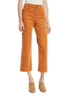J Brand Joan High-Rise Cropped Corduroy Pants
