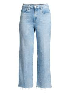 J Brand Joan High-Rise Cropped Raw Jeans