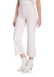 J Brand Joan High-Rise Wide-Leg Crop Jeans