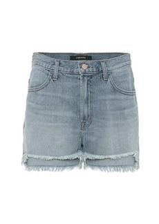J Brand Joan high-waisted denim shorts