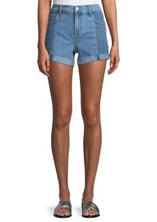 J Brand Johnny Mid-Rise Denim Shorts