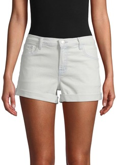 J Brand Johnny Textured Mid-Rise Shorts