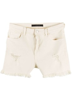 J Brand Jules distressed denim shorts