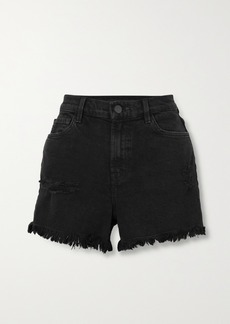 J Brand Jules Frayed Denim Shorts