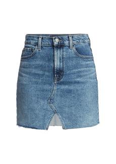 J Brand Jules High-Rise Denim Skirt