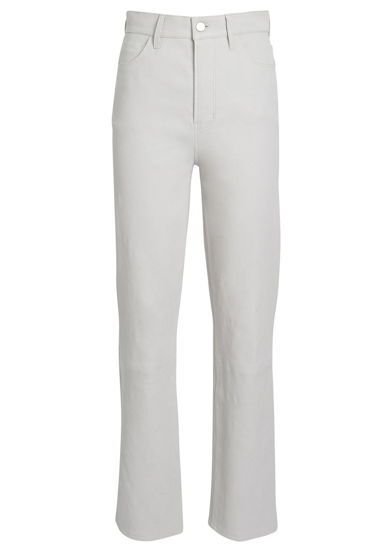J Brand Jules High-Rise Leather Jeans