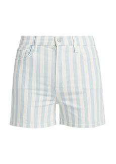 J Brand Jules High-Rise Striped Shorts