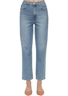 J Brand Jules High Straight Stretch Denim Jeans