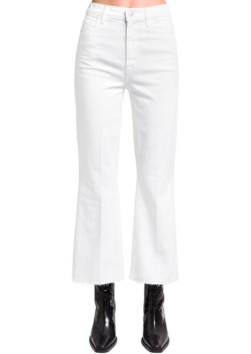 J Brand Julia Cropped Cotton Denim Jeans