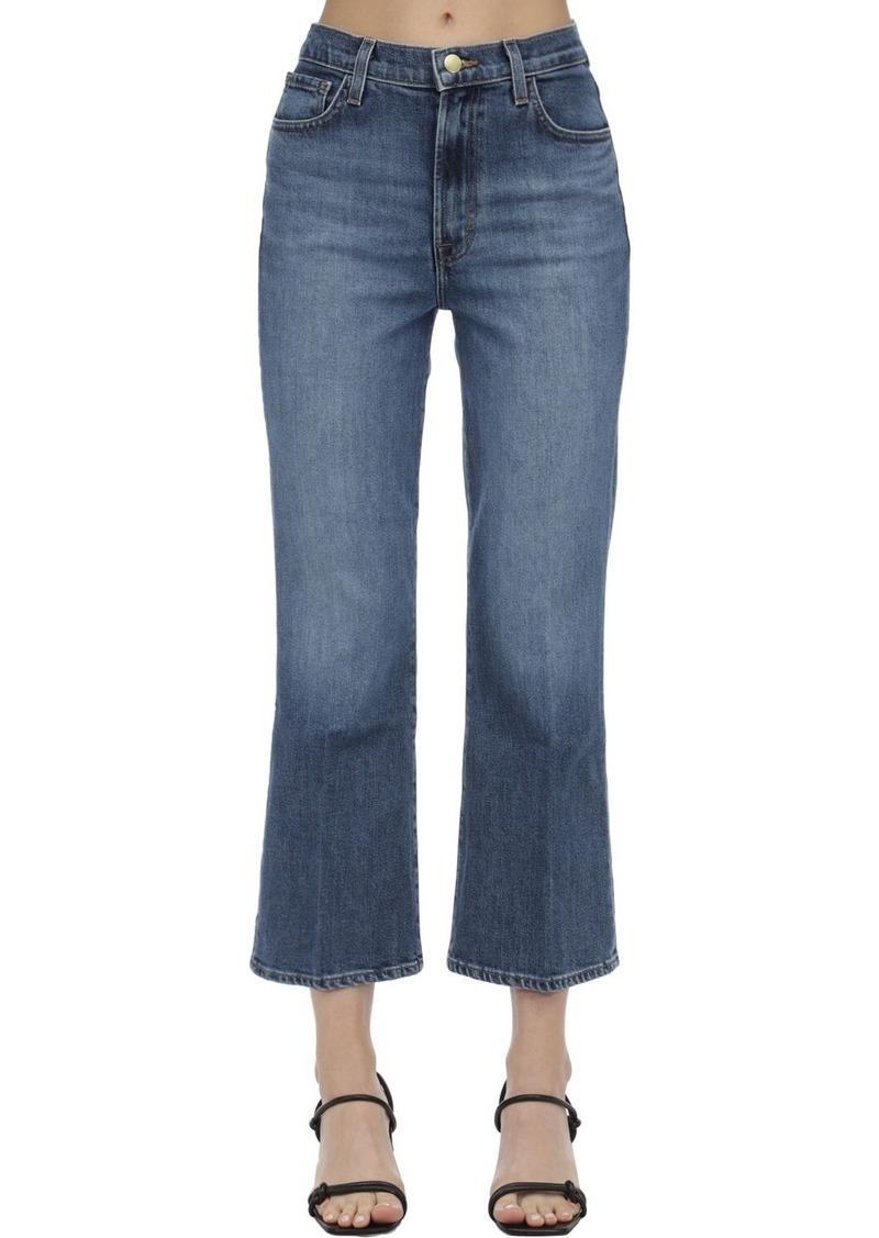 J Brand Julia Cropped Cotton Jeans