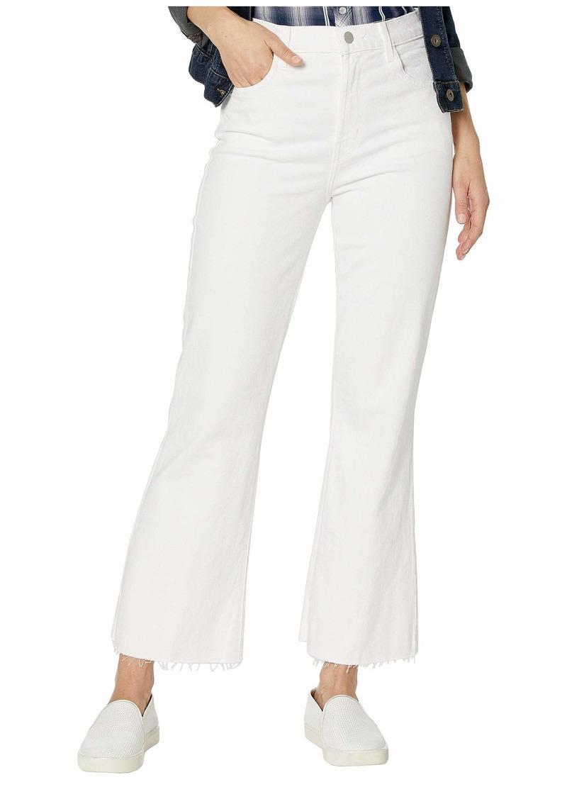 J Brand Julia High-Rise Flare in White
